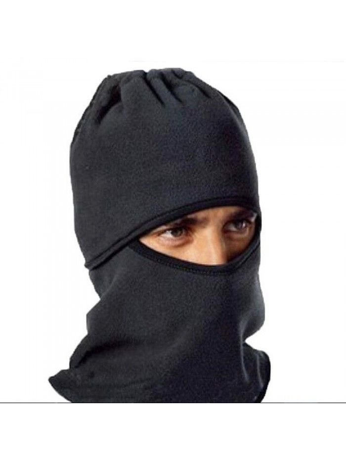 Mens Hood Fleece Women Beanie Hat Face Mask Neck Warmer Ski Snood Scarf
