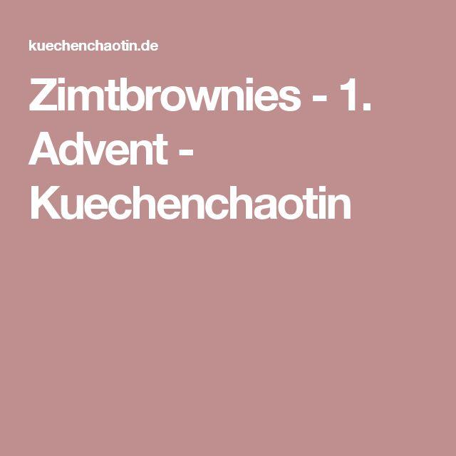Zimtbrownies - 1. Advent - Kuechenchaotin
