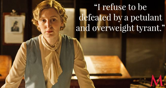 Downton Abbey Season 6 Episode 3 Best Quotes ..Laura Carmichael..Edith refuses to be defeated! So she has been listening to Granny!..