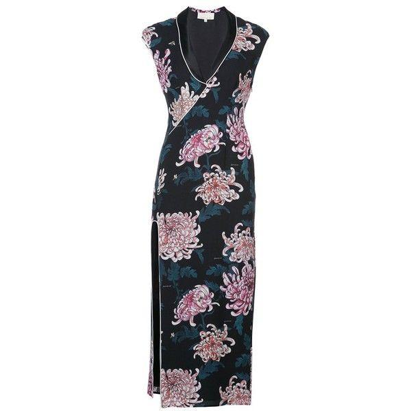 Fleur Du Mal Cannes Dress 585 Liked On Polyvore Featuring Dresses V Neck Cocktail Dress V Necklines For Dresses V Neck Cocktail Dress Silk Evening Dress