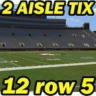 #Ticket  2 AISLE ROW 5 Boston College @ Florida State Seminoles FSU Football 11/11 12row5 #deals_us