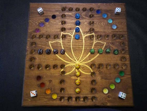 Aggravation Board Game Golden Lotus by Leeslegacyboards on Etsy