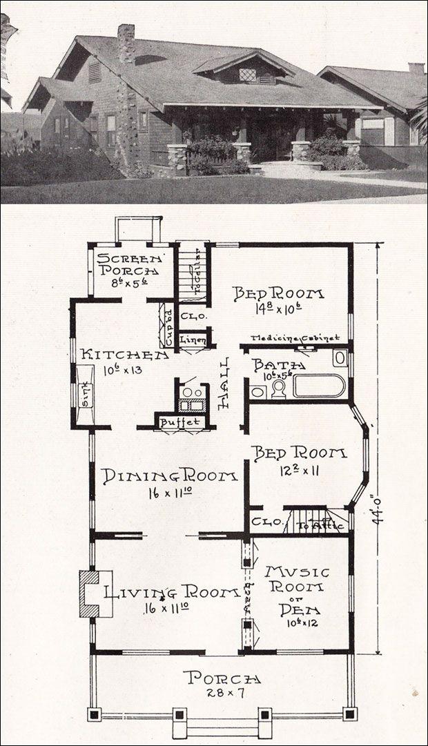 1000 ideas about bungalow house plans on pinterest for California bungalow house plans