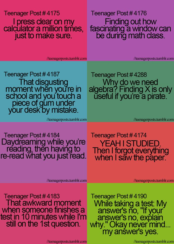 teenager posts | TEENAGER POST #3