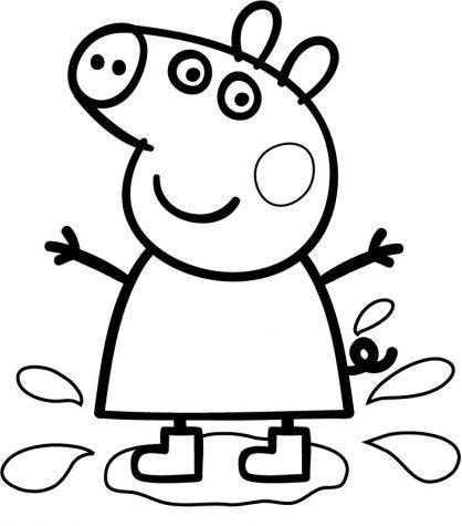 Coloriage Peppa Pig à colorier - Dessin à imprimer Plus