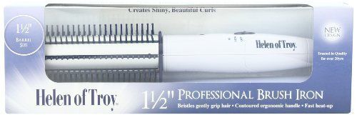 HELEN OF TROY Super Mega 1 1/2 inch Professional Brush Curling Iron with Contoured Comfort Handle for Longer Hair (Model: 1514N) -- This is an Amazon Affiliate link. You can find out more details at the link of the image.