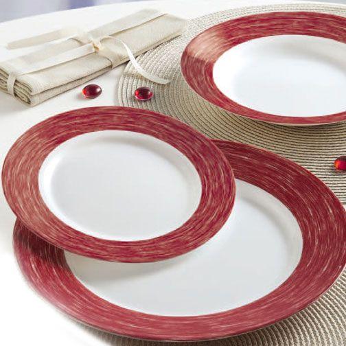 vajilla color party rojo, de venta en Alcampo