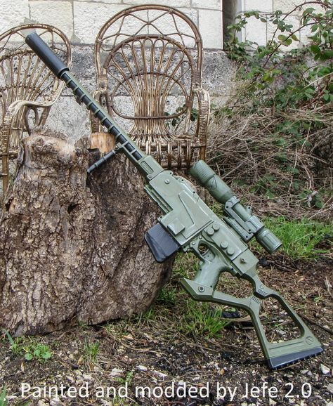 Fallout sniper / sniper rifle complete Nerf mod by Terin3DPrint