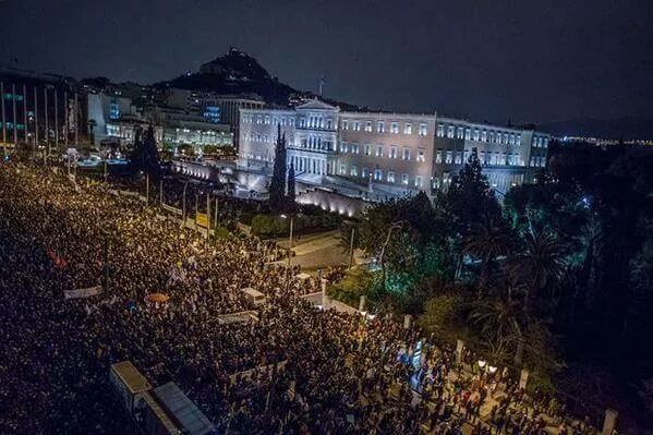 Protest at Syntagma Square, Athens  #Eurogroup #mazi #WeAreOne