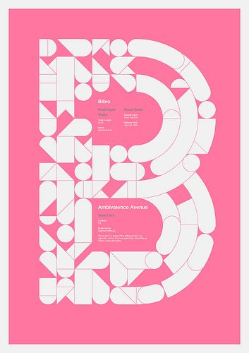B, via graphic design layout, identity systems and great type lock-ups.
