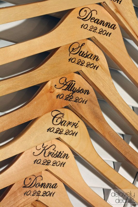 Standard Custom/Personalized Bridesmaid Hanger by delovelydetails,