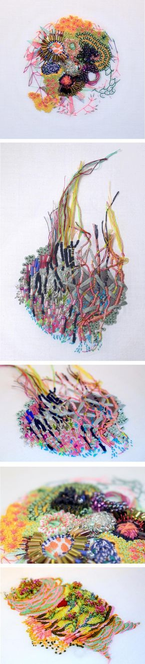 "Artist Karolin Reichardt crafts colorful embroideries based on her ""personal observations and reactions to the built and natural environment."""
