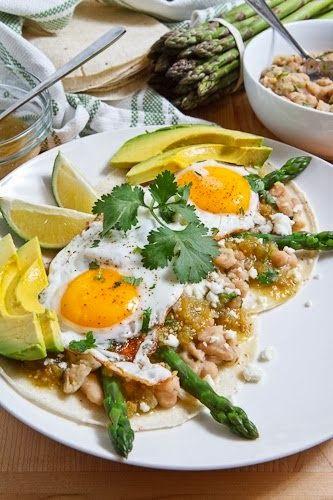 worldcookery: Asparagus Huevos Rancheros