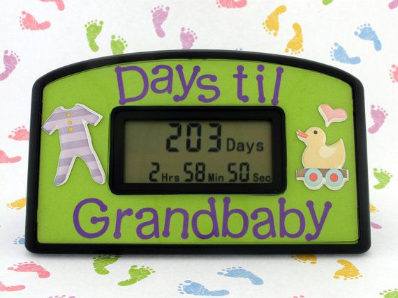 Countdown clock for Grandparents to be - great way for the parents-to-be to announce it to them! For the FUTURE