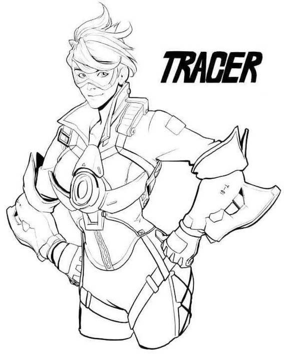 Lena Oxton Tracer Overwatch Coloring Page Overwatch Tracer Overwatch Coloring Pages