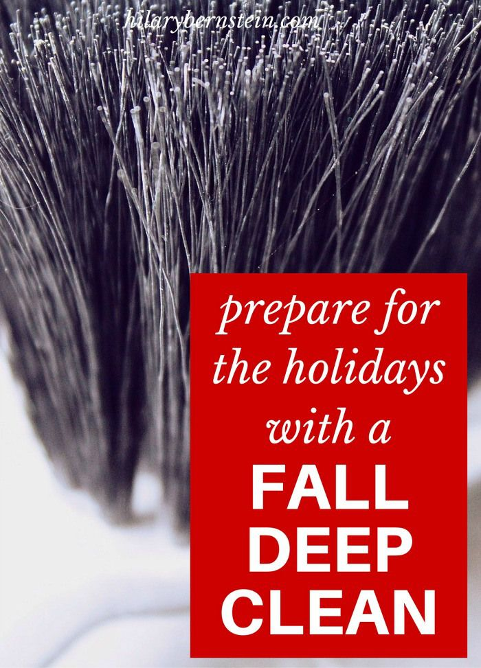 Prepare your home for holiday company with a fall deep clean!