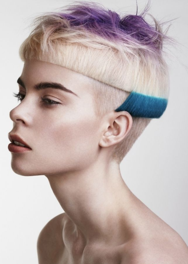 I need a volunteer to do this on. I LOVE the geometric angles and color placement!
