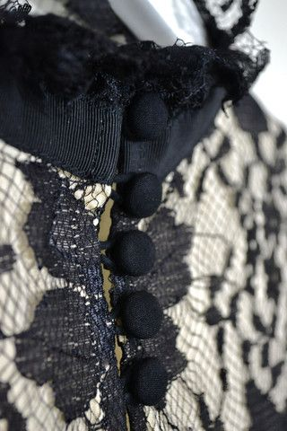 Buttons on Lace by Magali Pascal