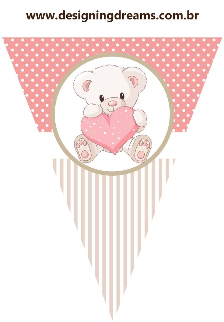 Osita Bebé para Fiestas de Nena: Kit para Imprimir Gratis.