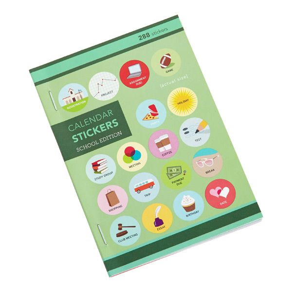 Leave yourself witty reminders with our Calendar Stickers. Their compact size…