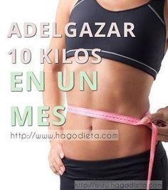 Para Adelgazar 10 kilos en 1 mes necesitamos un plan efectivo, saludable y de motivación. Antes que nada necesitas una motivación que sea la que en los tiempos dificiles, ayude a seguir con el plan de bajar de peso con perseverancia.
