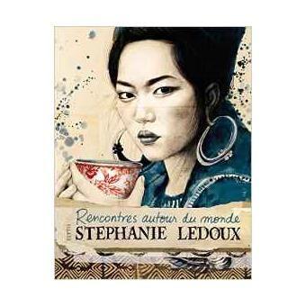 """Livre """"Rencontres autour du monde"""" de Stéphanie Ledoux."""