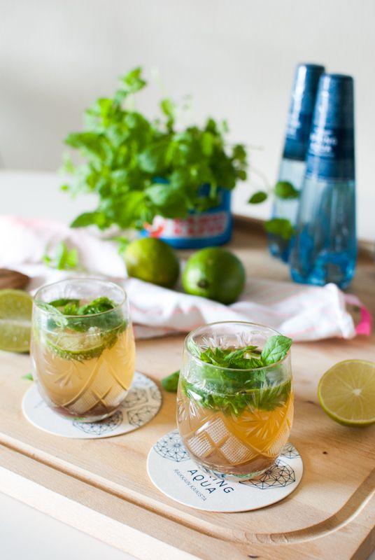 Ihana elokuun lämpö! Lämpimään kesäiltaan sopii esimerkiksi Ruokahommia-blogin alkoholiton mojito, jossa on käytetty Spring Aqua Premium -lähdevettä.