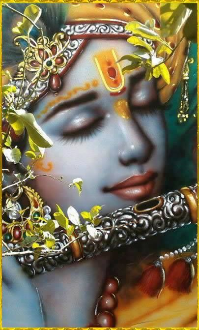 SB 10.14.1: Lord Brahma said: My dear Lord, You are the only worshipable Lord, the Supreme Personality of Godhead, and therefore I offer my humble obeisances and prayers just to please You. O son of the king of the cowherds, Your transcendental body is dark blue like a new cloud, Your garment is brilliant like lightning, and the beauty of Your face is enhanced by Your gunja earrings and the peacock feather on Your head. Wearing garlands of various forest flowers and leaves, and equipped with…