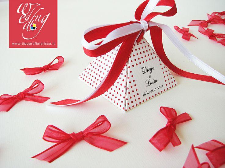 Piramide portaconfetti Elegant Red