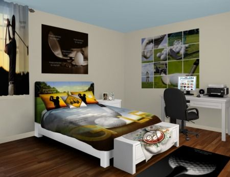 Gentil Pin By VisionBedding.com On Vision Wall Murals | Golf Room, Bedroom Decor,  Wall Murals