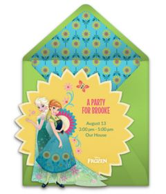 Free Frozen invitations! Beautiful Frozen online invitations you can personalize and send via email. #frozen