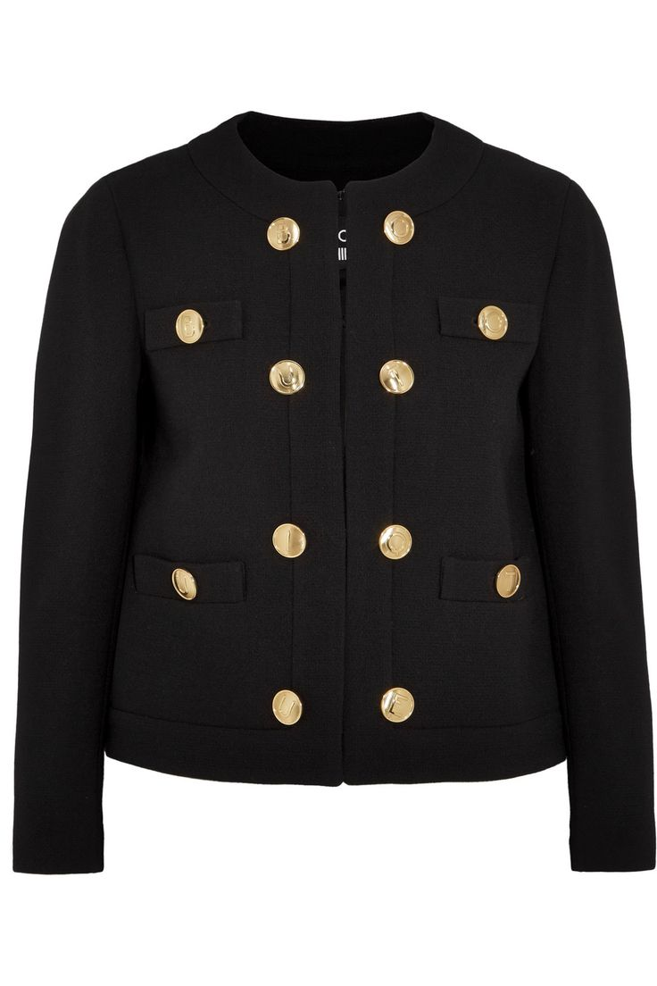 Shop on-sale Boutique Moschino Wool-crepe jacket. Browse other discount designer Jackets & more on The Most Fashionable Fashion Outlet, THE OUTNET.COM