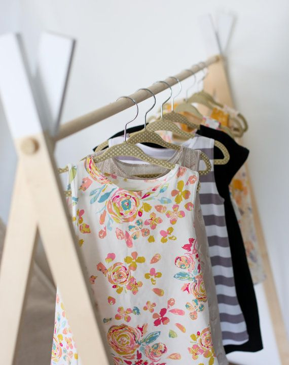 Clothing rack garment rack kids clothes by LittleFootClothingCo ($99)