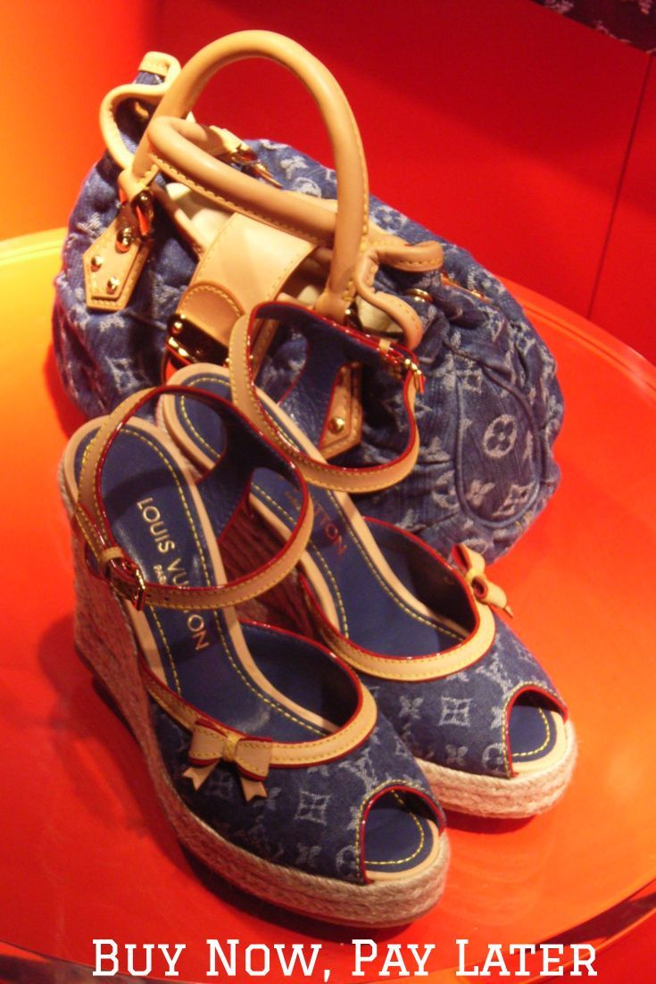 Buy Louis Vuitton Shoes Now, Pay Later with stores that offered deferred billing payment plans. Click for more info.