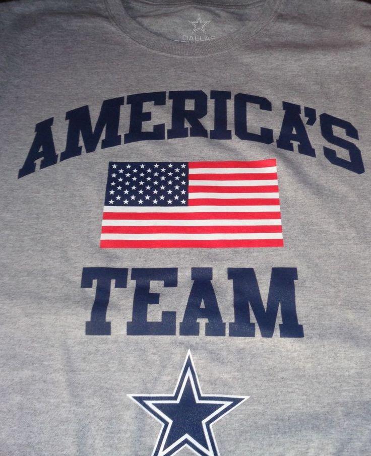 NFL Dallas Cowboys T-Shirt - Team Apparel Men's Gray Large #TeamApparel #DallasCowboys
