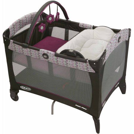 Graco Pack 'N Play Playard with Reversible Napper and Changer, Nyssa, Purple