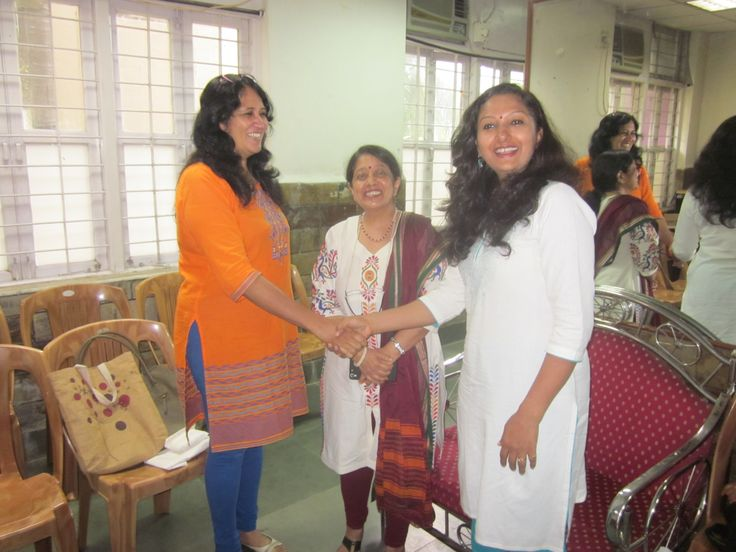 Doctor introduced to the Principal.Mrs. Jaya Kunder , at school