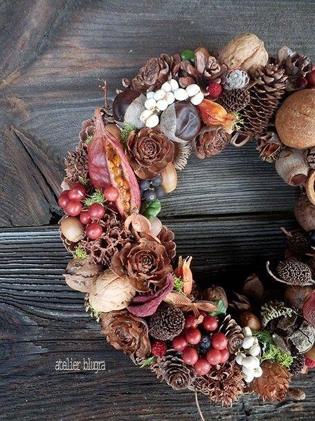 atelier BLUGRA八ヶ岳〜静かな森の木の実Wreath007 - アトリエ ブルグラ