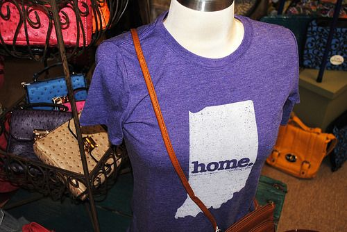 "Indiana ""Home"" T-Shirt at Evergreen Boutique in Santa Claus, Indiana."