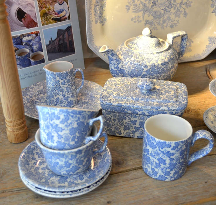 Burgess Chintz · White Dinnerware & 373 best Burleigh pottery images on Pinterest | Blue and white Blue ...