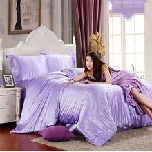 HOT100% pure satin summer bedding set home textiles bedding king bedding, duvet cover PLO ... (China (Mainland))