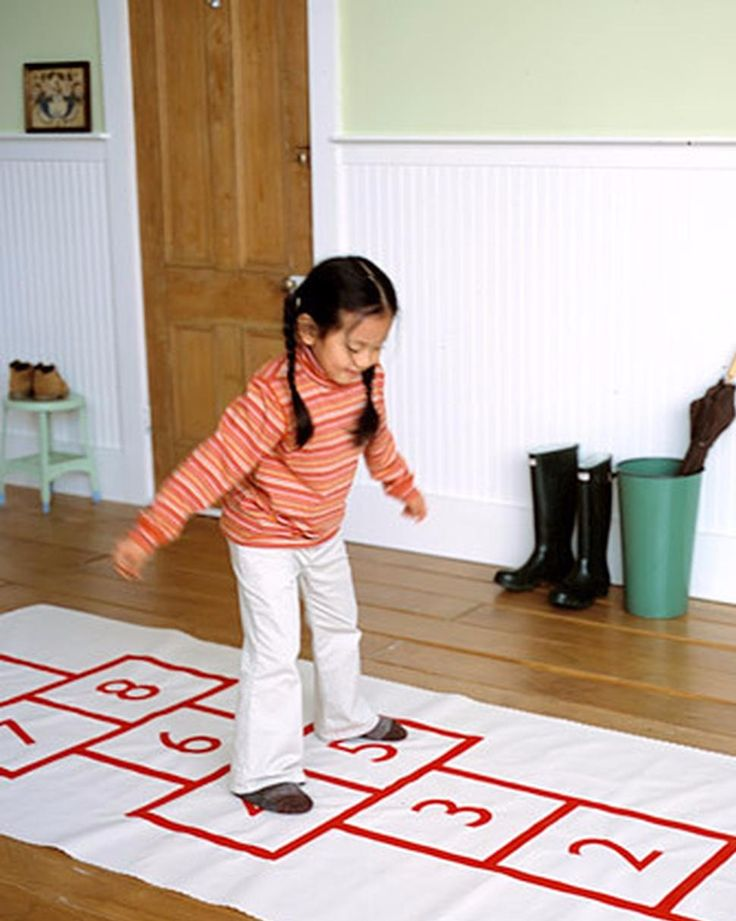 Hopscotch Mat After-School Crafts | Martha Stewart Living - Clear some floor space and roll out an indoor hopscotch mat. This ancient British game was used for military training exercises at the time of the Roman Empire; kids eventually became its most passionate devotees, because it's just plain fun.