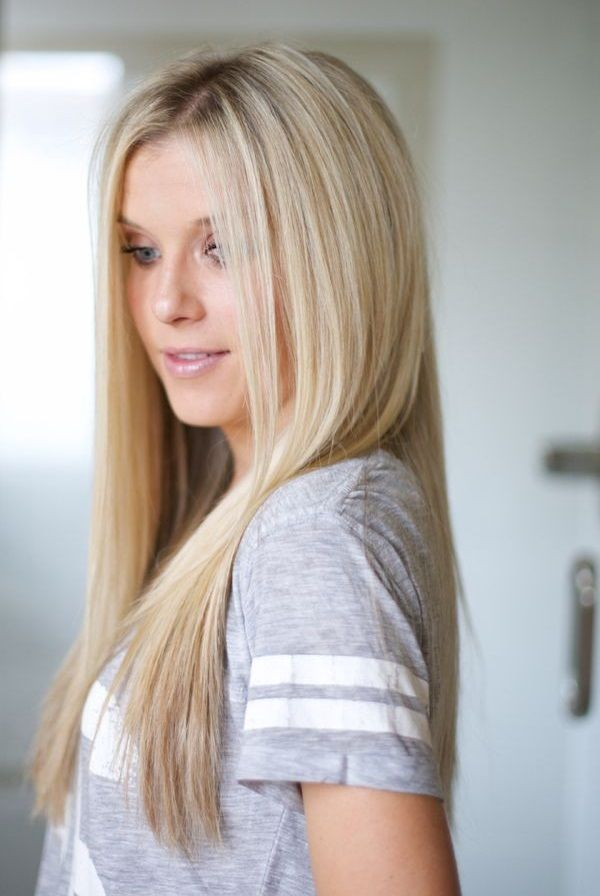 Nw Hairstyles For College Girls #hair #blonde #straight