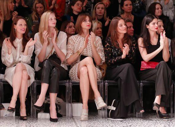 berlin fashion week front row eva padberg in kaviar gauche