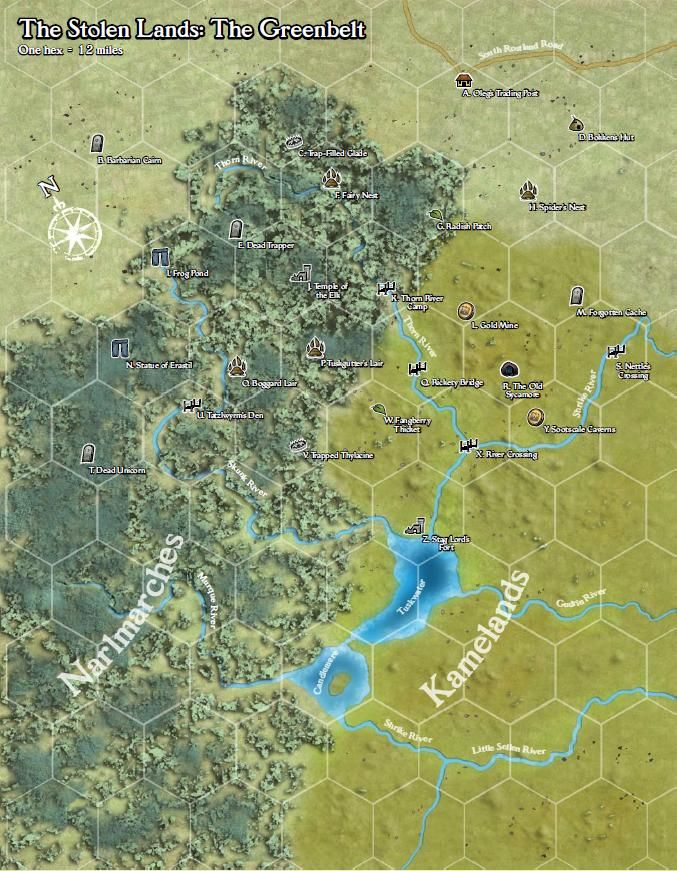 Greenbelt hex map