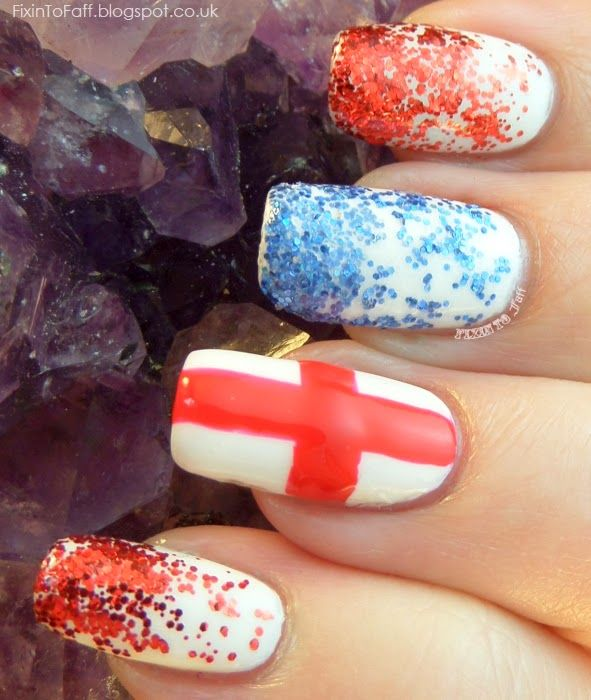 World Cup Nail Art England