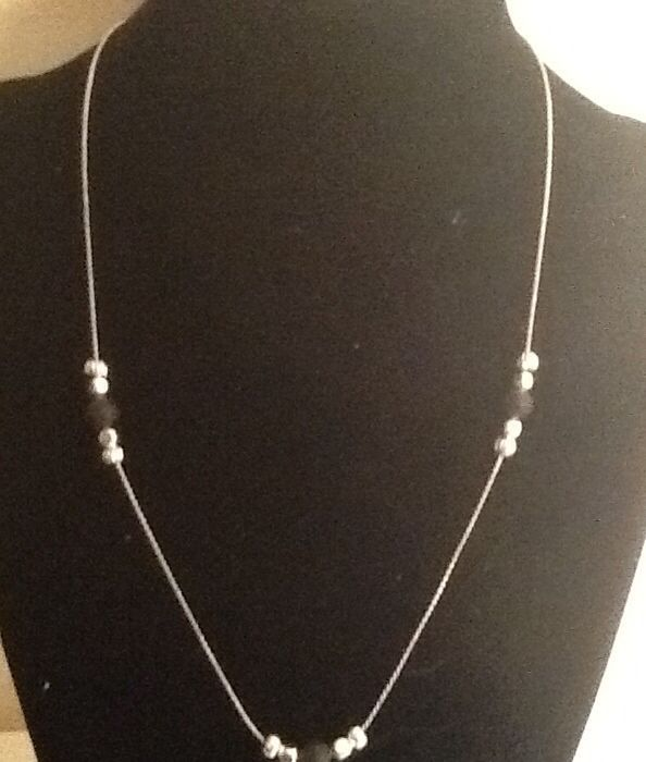 Silver and Iceland lava beads :)