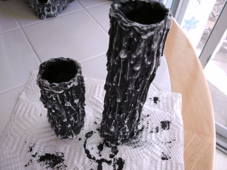 House of Dewberry: DIY Halloween Paper Towel Roll and Tealight Candles