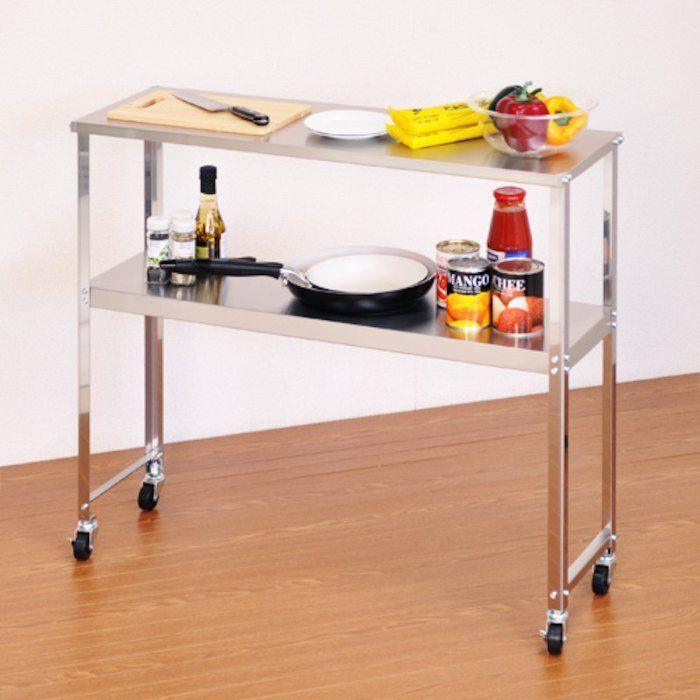 スリムワゴンサイドワゴンキッチン収納シンプルデザインで使い易い業務用衛生用品 リビング キッチン 作業台 キッチン インテリア 収納