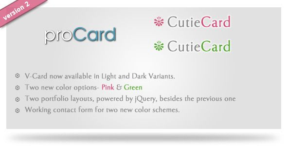 proCard HTML Template - ThemeForest Item for Sale